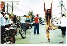 PUBLICITE ADVERTISING 095  2003 PUMA   baskets FF athlétisme JAMAIQUE (2p)