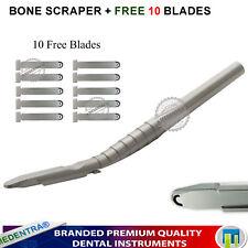 Medentra Dental Implant Bone Scraper Grafting Surgery Tool With 10 Blades Pack