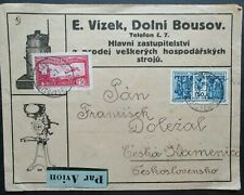 Paris to Czechoslovakia 1931 Advertising Airmail Cover.