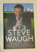 """Steve Waugh signed Book - """"Meaning of Luck"""" Standard Edition"""