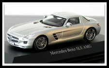 Model Building Lovely Mercedes Benz Sls Amg C197 Coupe 2009-14 Obsidian Black Black Metallic 1:87