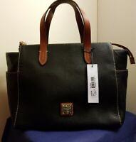 NWT! DOONEY & BOURKE Maya Pebbled Leather Satchel, Black MSRP $268