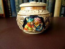Vintage 50's German Pottery Tobacco Jar