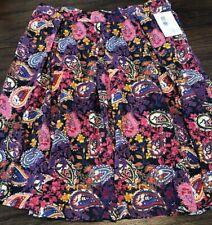NEW LuLaRoe 2XL Heathered Black Pink Purple Paisley Knit Madison Pocket Skirt