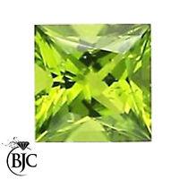 BJC® Loose Princess Cut Natural Peridot Stone Green Deep Beautiful & Great Value