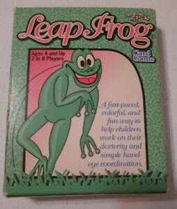 VINTAGE 1993 LEAP FROG EDUCATIONAL CARD GAME EMINAR PUBLISHING, NO-TOXIC INKS
