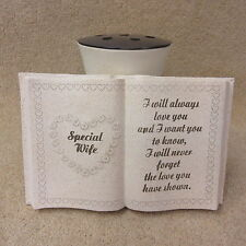 Special Wife Memorial  Graveside Book with Vase