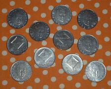Lotto 11 Monete - 100 LIRE - GUGLIELMO MARCONI CENTENARIO - ITALIA 1974