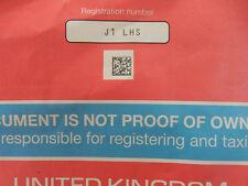 J1L  HS  Cherished REGISTRATION Number JI LHS