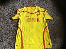 Warrior Liverpool FC Yellow Away Football Shirt 2014/15 Size XL B500