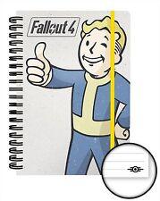 Oficial Fallout 4 Notebook Juego Forrado A5 Bloc de notas la bóveda Boy Tec Novedad Regalo