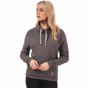 Womens Reebok Womens TE Marble Funnel Neck Sweatshirt in Grey - 4-6