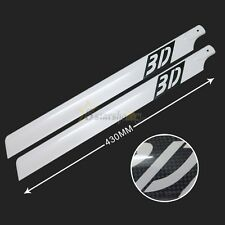3D 430mm Carbon Fiber Main Blades for Trex 500 RC Helicopter