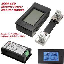100A DC Digital LCD Power Watt Meter Monitor Voltage KWh Ammeter Voltmeter+Shunt
