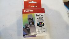 Canon BCI-21 Tri-Color Ink Cartridge 0955A003 Genuine New Sealed Box