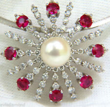 Diamond Red Ruby Fine Necklaces & Pendants