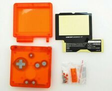 GBA SP Game Boy Advance SP Replacement Housing Shell Transparent Clear Orange