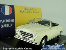 PEUGEOT 403 MODEL CAR 1:43 SCALE CREAM CABRIOLET ATLAS NOREV CLASSIC SPORTS K8
