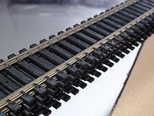 """HO ATLAS # 168 CODE 100 SUPERFLEX TRACK 36""""(5) PCS BLACK TIES BIGDISCOUNTTRAINS"""