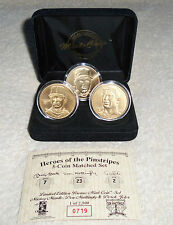 MLB New York Yankees Heroes - Mantle, Mattingly and Jeter 3 Bronze Coins Limited