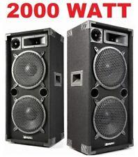 """COPPIA CASSE ACUSTICHE PASSIVE 2000W 2 X 10"""" PROFESSIONALI DIFFUSORI DJ PIANOBAR"""