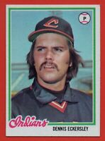 1978 Topps #122 Dennis Eckersley NEAR MINT+ Cleveland Indians HOF FREE SHIPPING