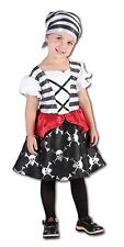 PIRATE GIRL PRETTY POLY TODDLER KIDS FANCY DRESS GIRLS PARTY COSTUME 2-4 WN