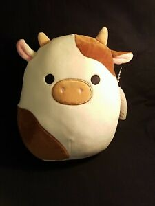 "Squishmallow  Ronnie Brown White Cow  8"" 2021 Easter NWT"