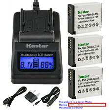 Kastar Battery LCD Fast Charger for DMW-BLG10 DMW-BLG10E Panasonic Lumix DMC-GX7