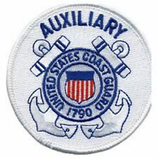 "Coast Guard Auxiliary 3"" Circle sew on high quality Embroidery Emblem-Patch Gift"