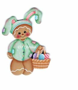 Easter Bunny Gingerbread with a basket of Easter Eggs  Metal Die Cutter(GB 78)