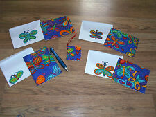 NEW : HANDMADE, BUTTERFLY NOTE CARDS, GIFT TAG & PEN