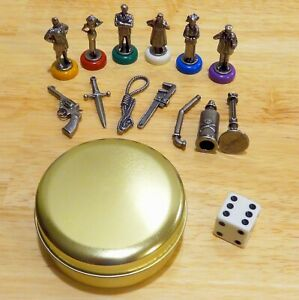 Clue 50th Anniversary Individual Replacement Pieces Weapons & Suspect Tokens