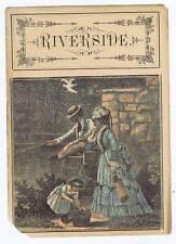 Riverside, inner cigar box label, family fishing