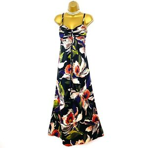 Ted Baker Multi Floral Silk Summer Holiday Long Maxi Dress size 10 2 Occasion