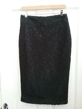 Autograph M & S Womens Black Lace Pencil Skirt Size 8 Length 27 inches