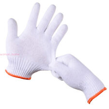 White New Cotton Work Gloves Protective Builders Mechanic Construction Glove