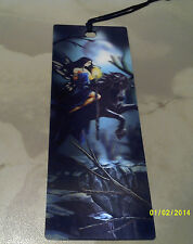 bookmarker 3d with fairy on a black horse