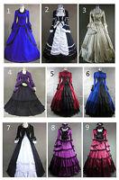 Victorian Edwardian Vintage School Ball Party Lolita Dress Cosplay Costume Fancy