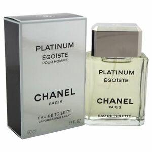 CHANEL PLATINUM EGOISTE for Men Cologne 1.7oz / 50ml EDT Spray NEW IN BOX SEALED