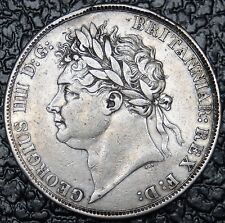 1821 GREAT BRITAIN - CROWN - SILVER - George IV Laureate Head - Gorgeous Coin