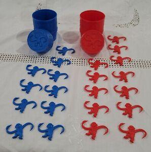 Barrel Of Monkeys 10 Blue/12 Red Milton Bradley 1989 2003 *FREE SHIPPING*