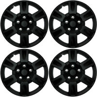 4 pc set of 16 matte black hub caps rim cover for oem steel wheel Oldsmobile Hubcaps 4 pc set of 16 matte black hub caps full lug skin rim cover for