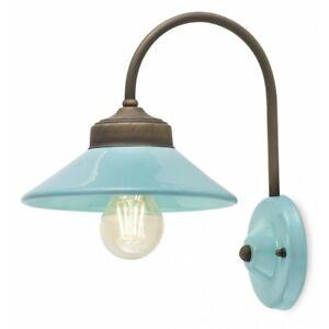 Wall Light Wrought Iron Classic Ceramics Sky Blue