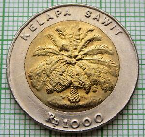 INDONESIA 1995 1000 RUPIAH, PALM OIL TREE, BI-METALLIC, UNC
