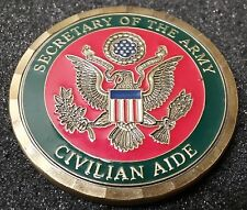 AUTHENTIC SecArmy DoA Secretary of Army Civilian Aide Oklahoma Challenge Coin