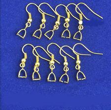 20PCS 18K Gold Making Fine Jewelry Findings Pinch Bail Hook Earring Earwires