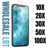 Wholesale Bulk For iPhone 12 11 Pro Max XR 8 Tempered Glass Screen Protector Lot