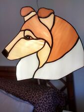 Stained Glass Dog - Collie - Rough - Sable
