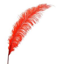 "3 BRIGHT RED Ostrich SPADS 20-30"" Full Wing Feather PLUMES; Wedding/Centerpiece"